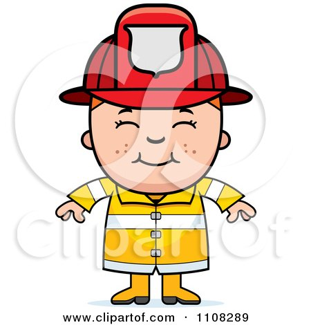 Clipart Angry Red Haired Fire Fighter Girl - Royalty Free Vector ...