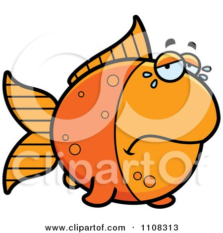 Clipart Crying Goldfish - Royalty Free Vector Illustration by Cory Thoman