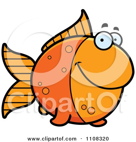 Clipart Happy Goldfish - Royalty Free Vector Illustration by Cory Thoman
