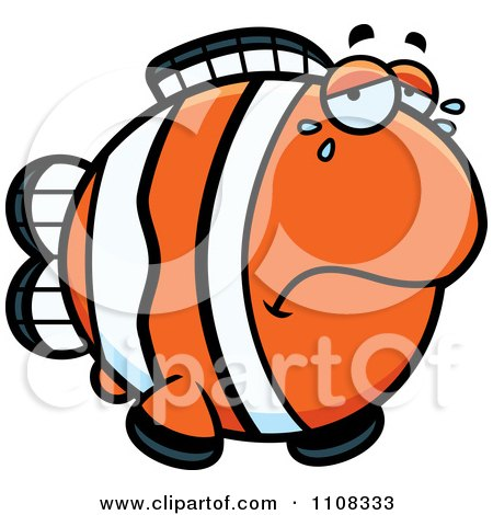 Clipart Crying Clownfish - Royalty Free Vector Illustration by Cory Thoman