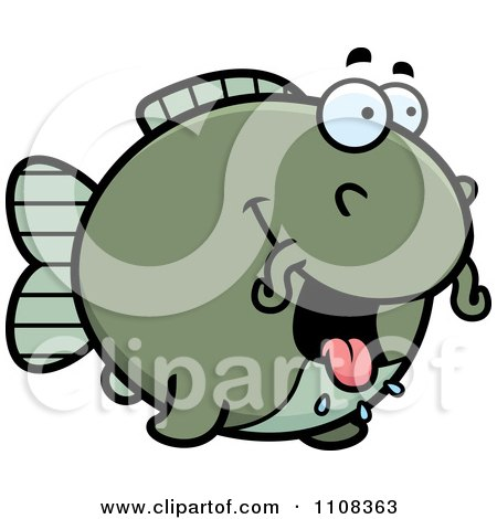 Clipart Hungry Chubby Catfish - Royalty Free Vector Illustration by Cory Thoman