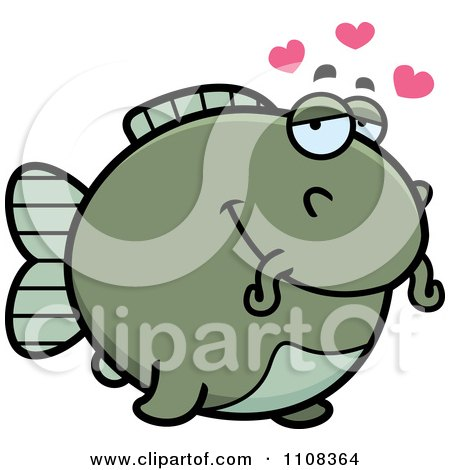 Clipart Amorous Chubby Catfish - Royalty Free Vector Illustration by Cory Thoman