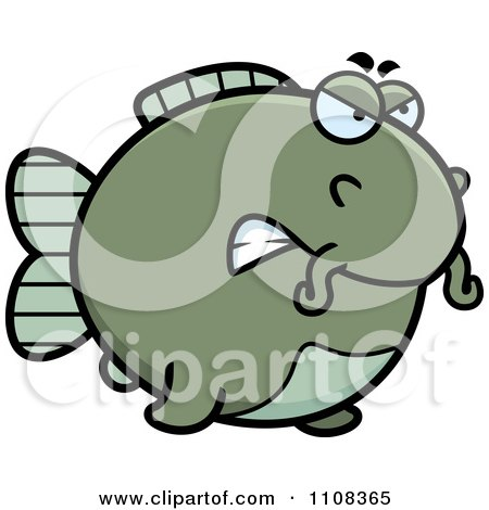 Clipart Angry Chubby Catfish - Royalty Free Vector Illustration by Cory Thoman