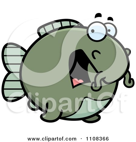 Clipart Scared Chubby Catfish - Royalty Free Vector Illustration by Cory Thoman