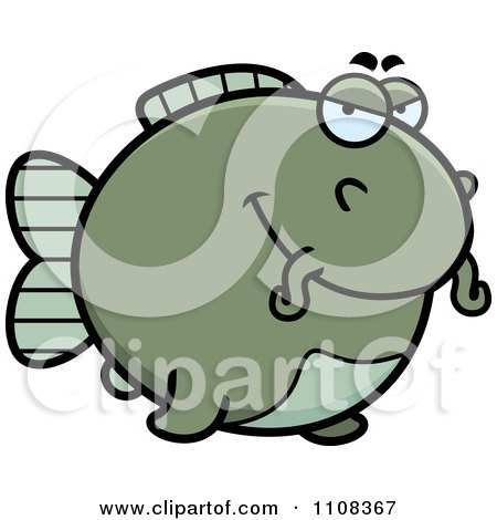 Clipart Sly Chubby Catfish - Royalty Free Vector Illustration by Cory Thoman
