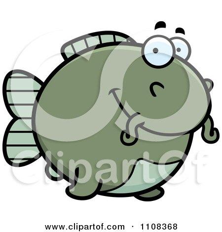 Clipart Happy Chubby Catfish - Royalty Free Vector Illustration by Cory Thoman