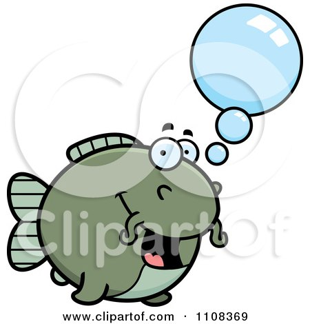 Clipart Talking Chubby Catfish - Royalty Free Vector Illustration by Cory Thoman