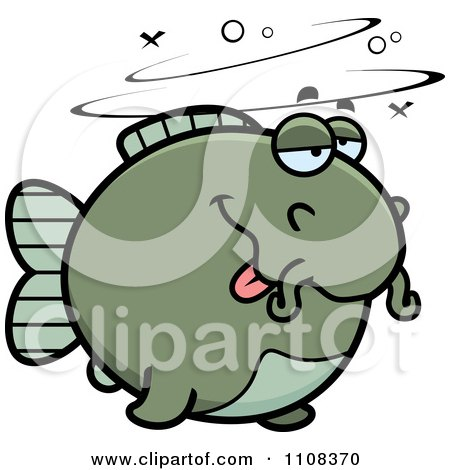Clipart Drunk Chubby Catfish - Royalty Free Vector Illustration by Cory Thoman