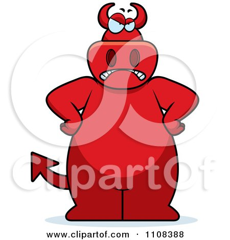 Clipart Mad Big Red Devil - Royalty Free Vector Illustration by Cory Thoman