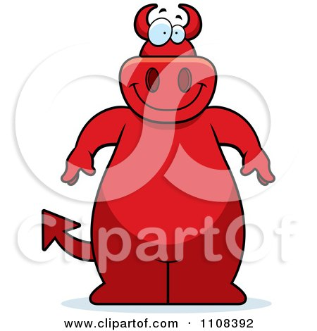 Clipart Big Red Devil - Royalty Free Vector Illustration by Cory Thoman