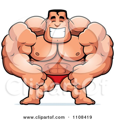 Clipart Beefy Bodybuilder - Royalty Free Vector Illustration by Cory Thoman