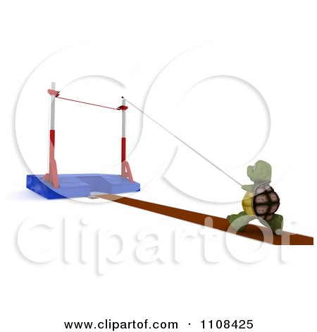 Clipart 3d Tortoise Pole Vault Track And Field Athlete 2 - Royalty Free CGI Illustration by KJ Pargeter