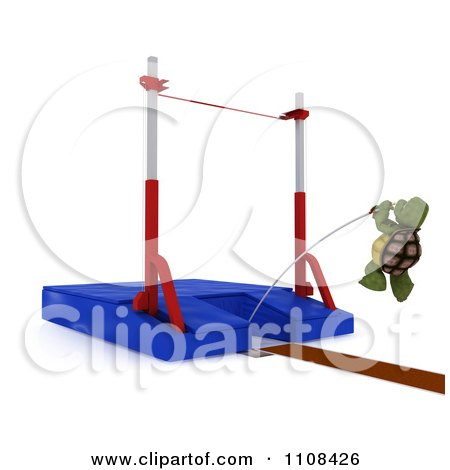 Clipart 3d Tortoise Pole Vault Track And Field Athlete 3 - Royalty Free CGI Illustration by KJ Pargeter