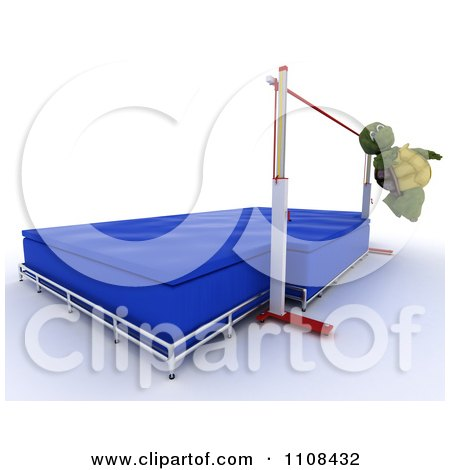 Clipart 3d Tortoise High Jumper Track And Field Athlete 1 - Royalty Free CGI Illustration by KJ Pargeter