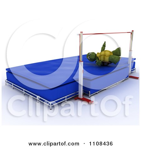 Clipart 3d Tortoise High Jumper Track And Field Athlete 3 - Royalty Free CGI Illustration by KJ Pargeter