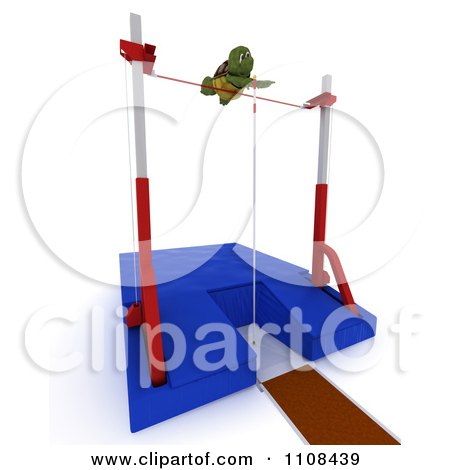 Clipart 3d Tortoise Pole Vault Track And Field Athlete 4 - Royalty Free CGI Illustration by KJ Pargeter