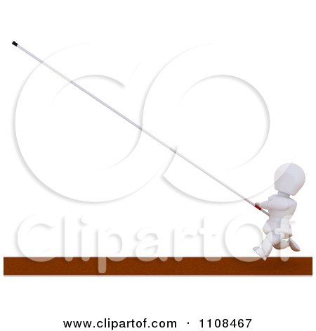 Clipart 3d White Character Pole Vault Track And Field Athlete 6 - Royalty Free CGI Illustration by KJ Pargeter