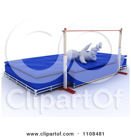 Clipart 3d White Character High Jumper Athlete 3 - Royalty Free CGI Illustration by KJ Pargeter