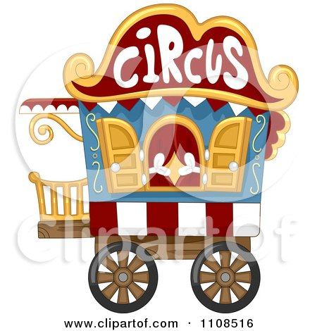 Clipart Circus Caravan Cart - Royalty Free Vector Illustration by BNP Design Studio