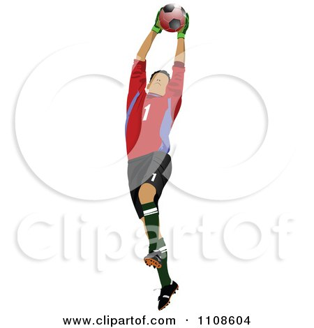 Royalty-Free (RF) Clipart of Goal Keepers, Illustrations, Vector Graphics #1