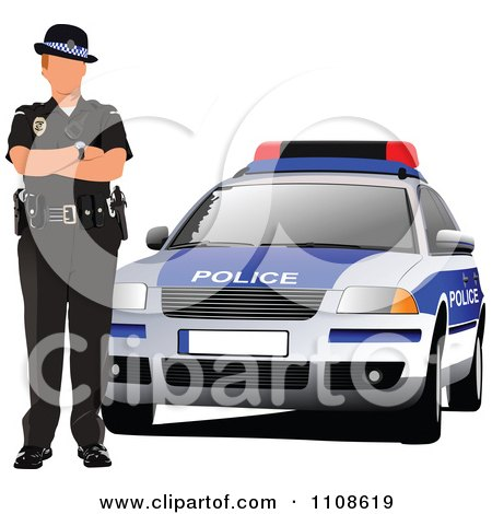 Royalty-Free (RF) Cop Car Clipart, Illustrations, Vector Graphics #1