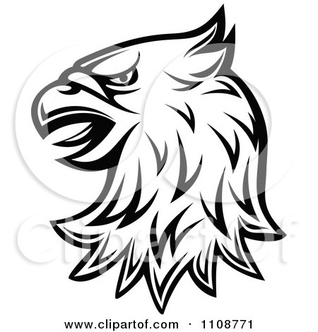 Clipart Black And White Heraldic Eagle Head 1 - Royalty Free Vector Illustration by Vector Tradition SM