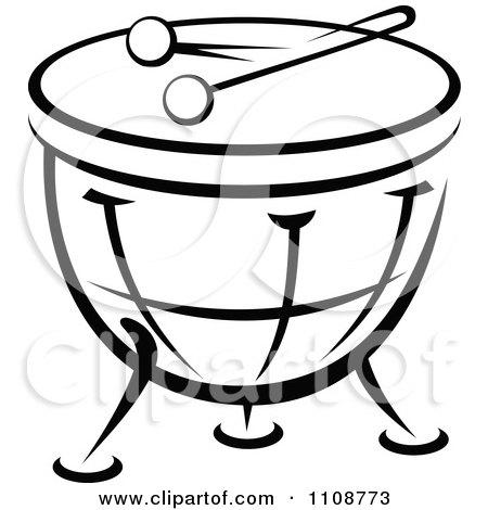 Black And White Drum M...
