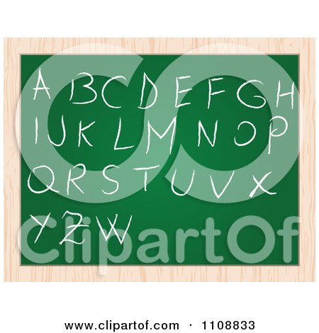 Clipart Capital Letters Writen On A Chalk Board - Royalty Free Vector Illustration by Andrei Marincas