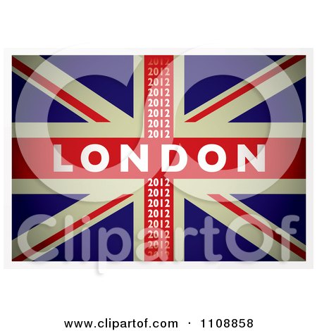 Clipart British Union Jack Flag With London 2012 Text - Royalty Free Vector Illustration by michaeltravers