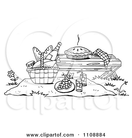 Royalty Free Rf Picnic Basket Clipart Illustrations