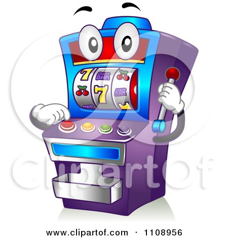 Clipart Casino Slot Machine Mascot - Royalty Free Vector Illustration by BNP Design Studio