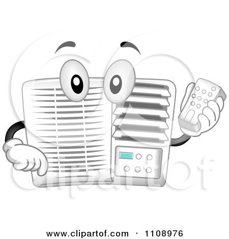 clipart 3d ductless wall air conditioner unit