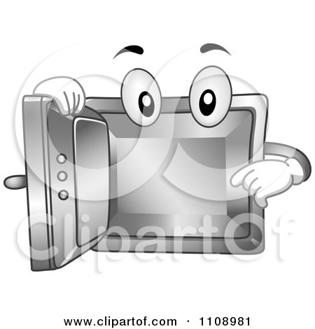 Clipart Empty Vault Mascot - Royalty Free Vector Illustration by BNP Design Studio