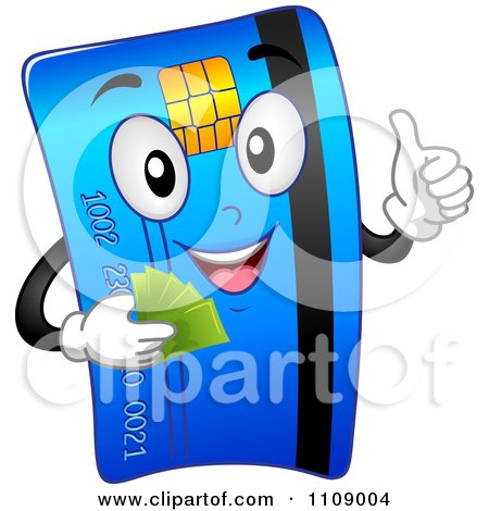 clipart happy credit card mascot holding a cell phone royalty free rh clipartof com credit card clip art free visa credit card clipart