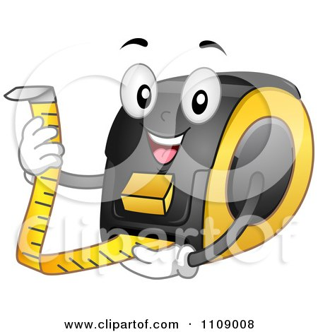 Clipart Happy Tape Measure Mascot - Royalty Free Vector Illustration by BNP Design Studio