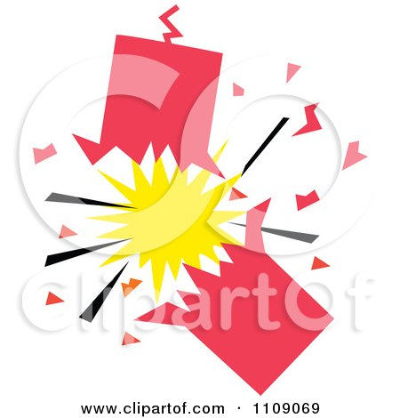 Clipart Exploding Firecracker - Royalty Free Vector Illustration by Johnny Sajem