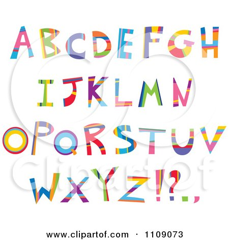 Clipart Colorful Capital Letters And Punctuation - Royalty Free Vector Illustration by yayayoyo