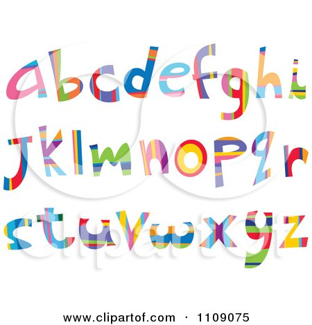 Clipart Colorful Lowercase Letters - Royalty Free Vector Illustration by yayayoyo