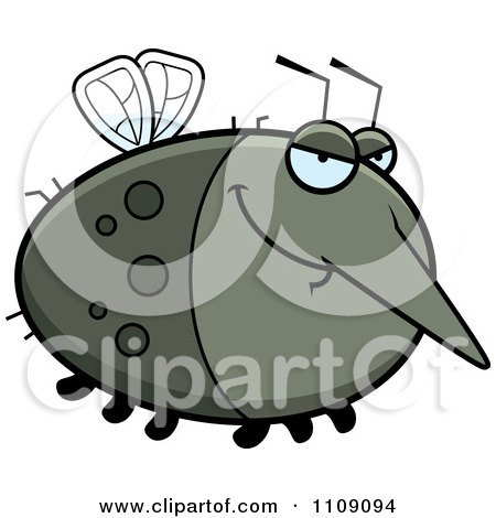Clipart Chubby Sly Mosquito - Royalty Free Vector Illustration by Cory Thoman