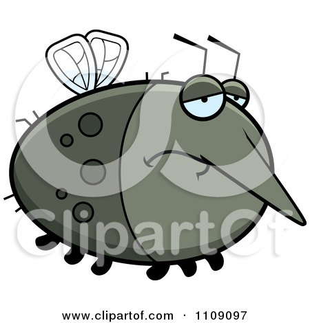 Clipart Chubby Depressed Mosquito - Royalty Free Vector Illustration by Cory Thoman