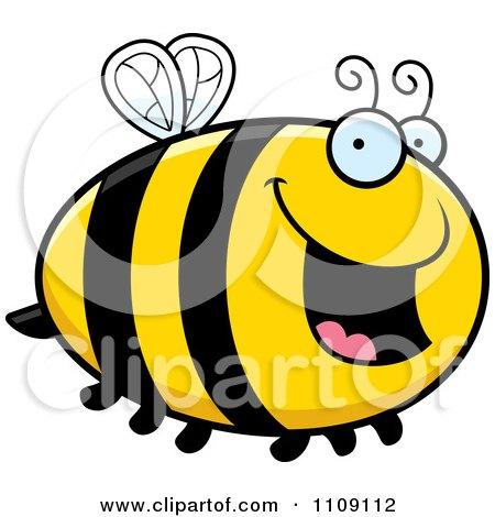 Chubby Happy Bee Posters, Art Prints