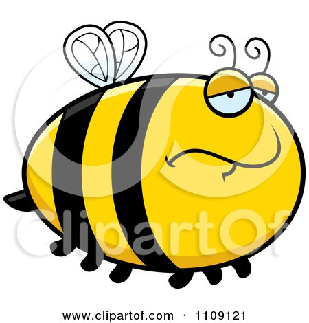 Clipart Chubby Depressed Bee - Royalty Free Vector Illustration by Cory Thoman