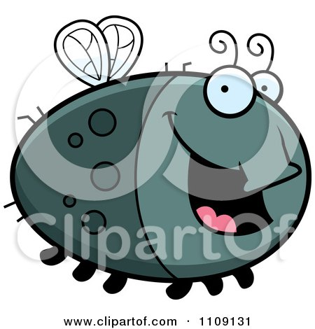 Clipart Chubby Happy Fly - Royalty Free Vector Illustration by Cory Thoman