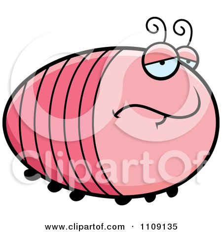 Clipart Chubby Depressed Grub - Royalty Free Vector Illustration by Cory Thoman