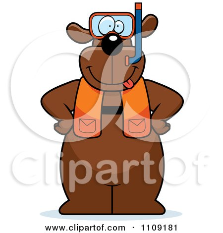 Clipart Dog In Scuba Gear - Royalty Free Vector Illustration by Cory Thoman