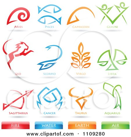 Earth Air Water Fire Symbols http://www.clipartof.com/gallery/clipart/astrology_sign.html