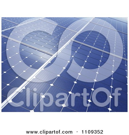 Clipart 3d Photovoltaic Panels Collecting Solar Energy - Royalty Free CGI Illustration by Mopic
