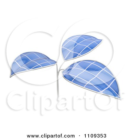 Clipart 3d Artificial Photovoltaic Solar Panel Cell Plant - Royalty Free CGI Illustration by Mopic