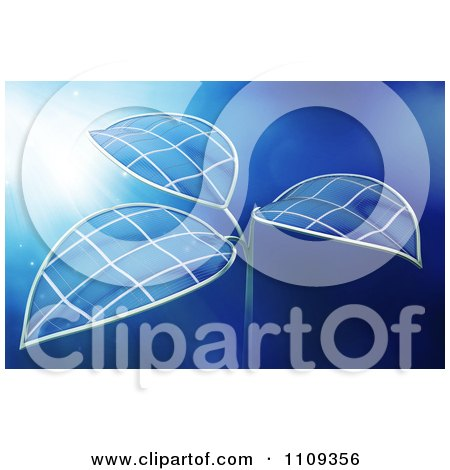 Clipart 3d Photovoltaic Solar Panel Cell Plant - Royalty Free CGI Illustration by Mopic