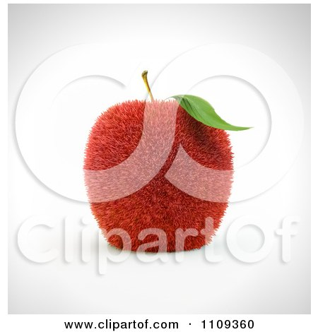 Clipart 3d Grassy Red Apple - Royalty Free CGI Illustration by Mopic